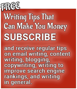 Subscribe to Free Writing Tips That Can Make You Money