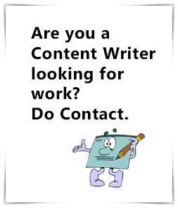 Looking for work as a content writer?